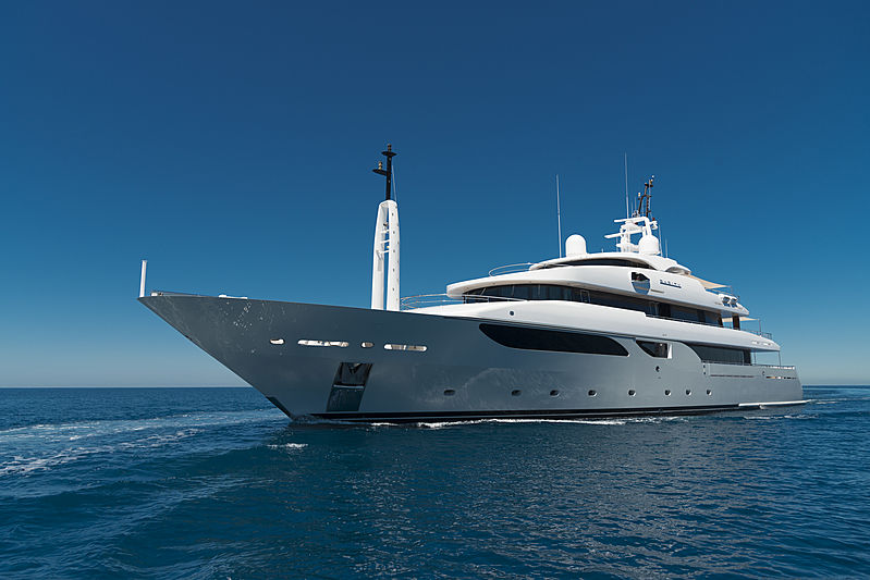 Rarity yacht anchored