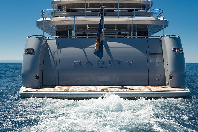 Rarity yacht cruising