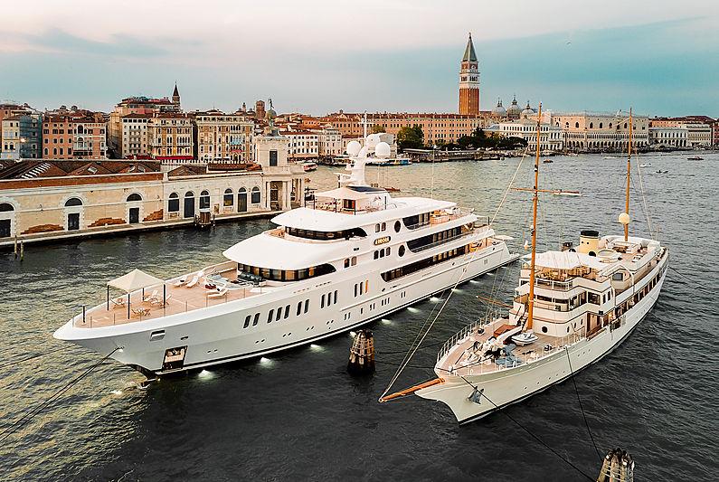 Aurora and Haida yachts in Venice, Italy