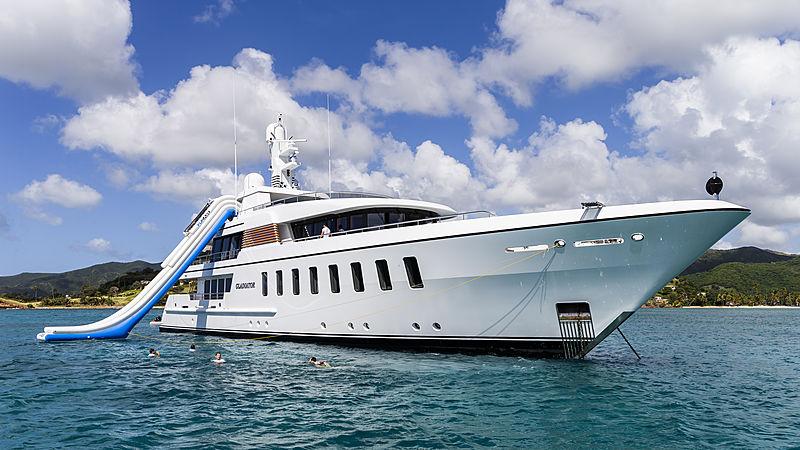 Gladiator yacht at anchor