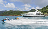 Gladiator yacht with her toys