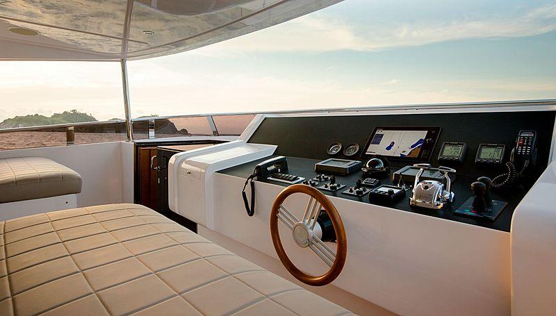Mykonos yacht flybridge