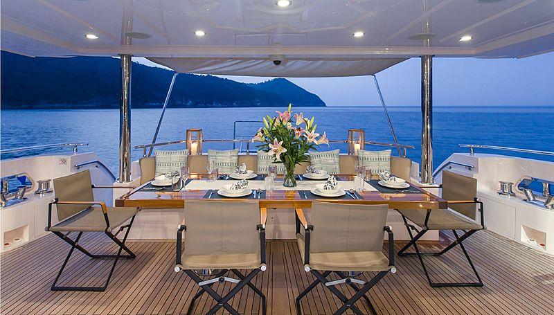 Mykonos yacht aft deck