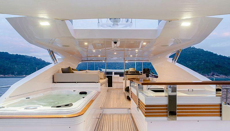 Mykonos yacht sundeck