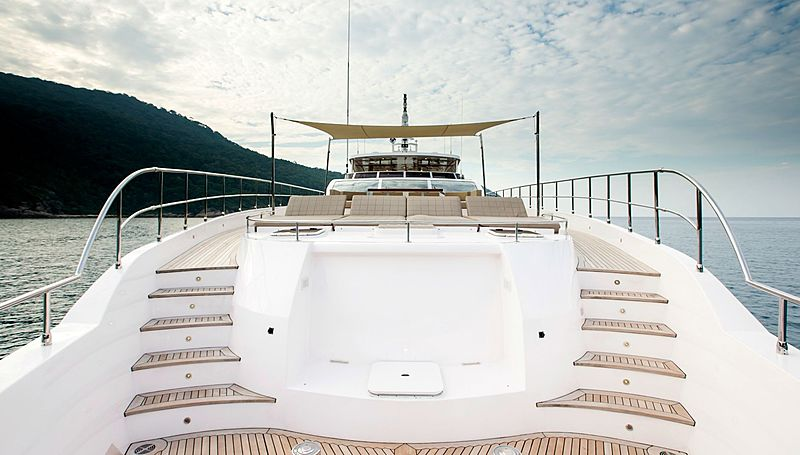 Mykonos yacht bow area