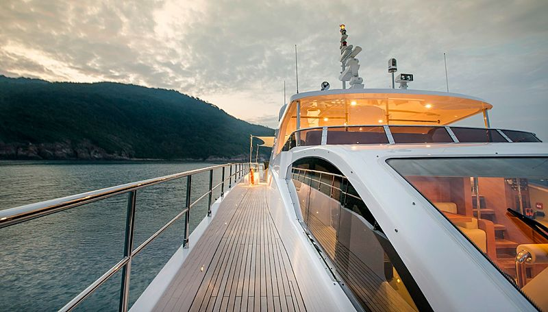 Mykonos yacht deck