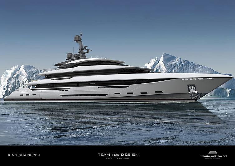 King Shark yacht rendering
