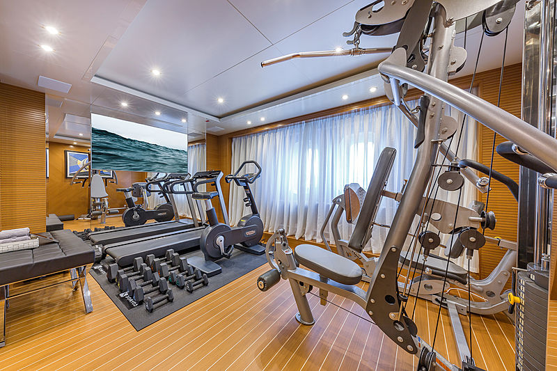 Spectre yacht gym