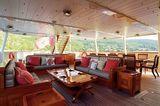 Steel main aft deck living space