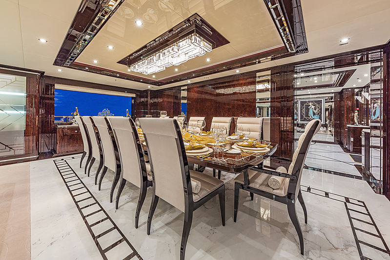 Spectre yacht dining table