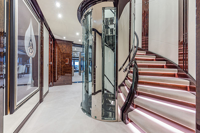 Spectre yacht staircase