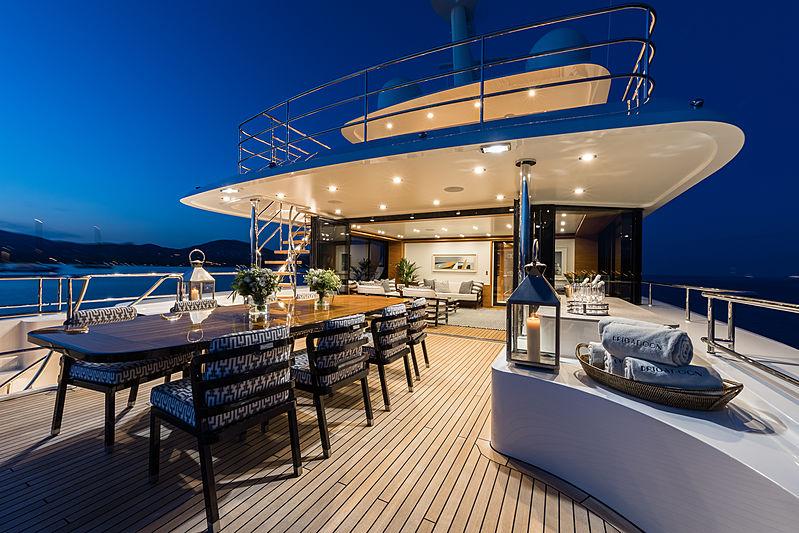 Brigadoon yacht deck