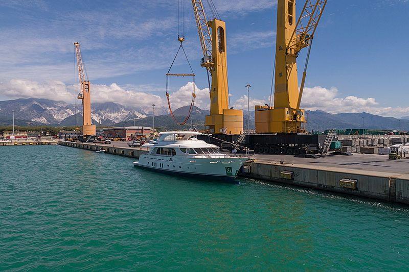 Vanadis yacht launch event