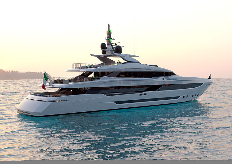 Mondomarine  Classic 50m yacht rendering