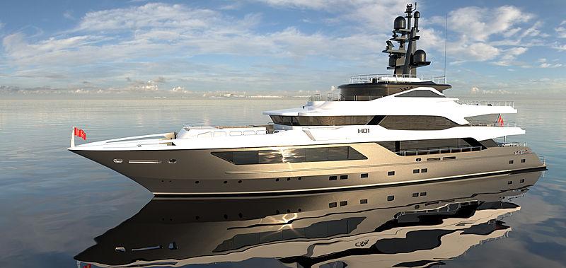 H01 yacht exterior rendering