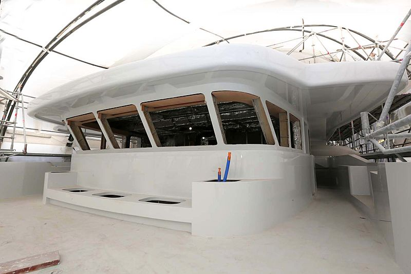 H01 yacht under construction