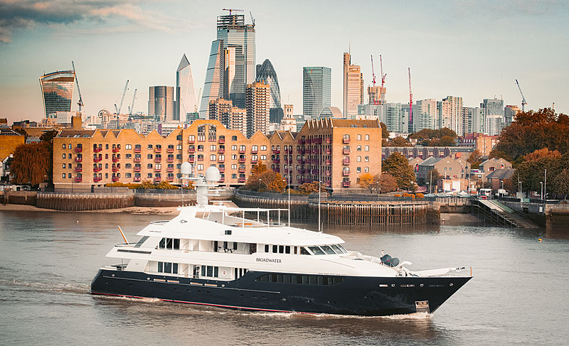 Broadwater yacht by Feadship in London
