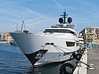 Elinor yacht bow at ECPY Open Days in Nice