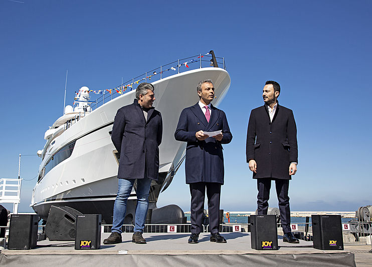 Dragon yacht launch ceremony
