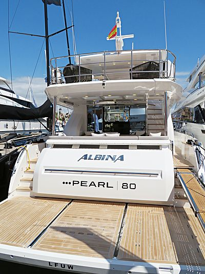 Albina yacht at Palma SuperYacht Show