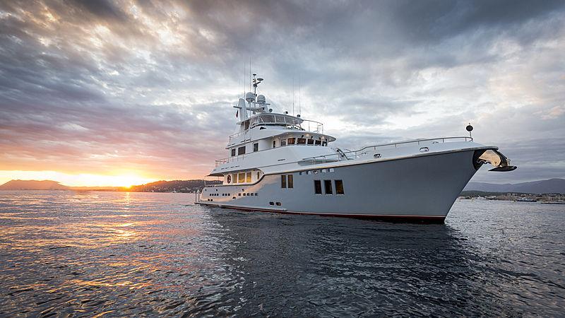 Aroha yacht at anchor