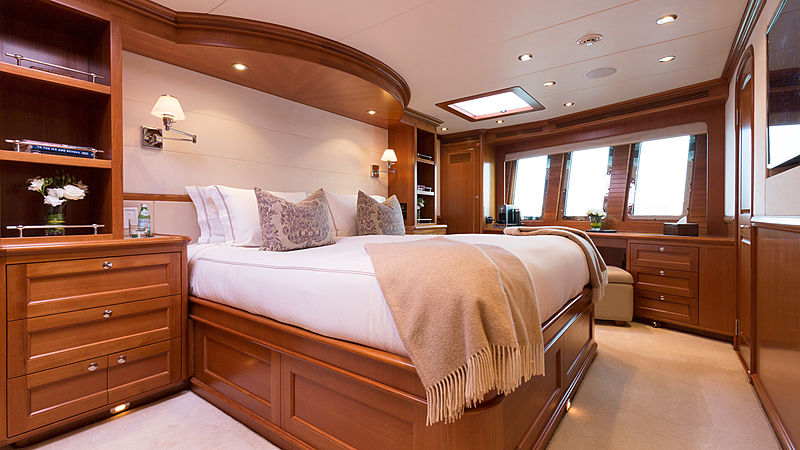 Aroha yacht stateroom