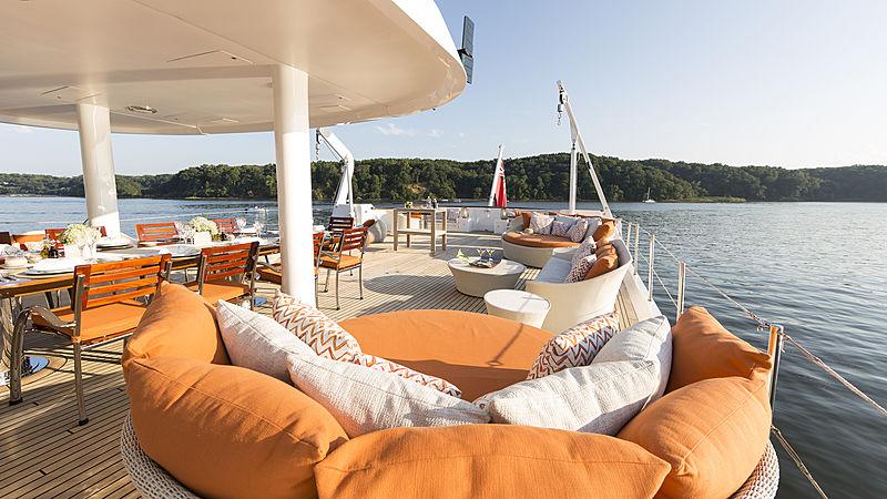 Minderella yacht aft deck