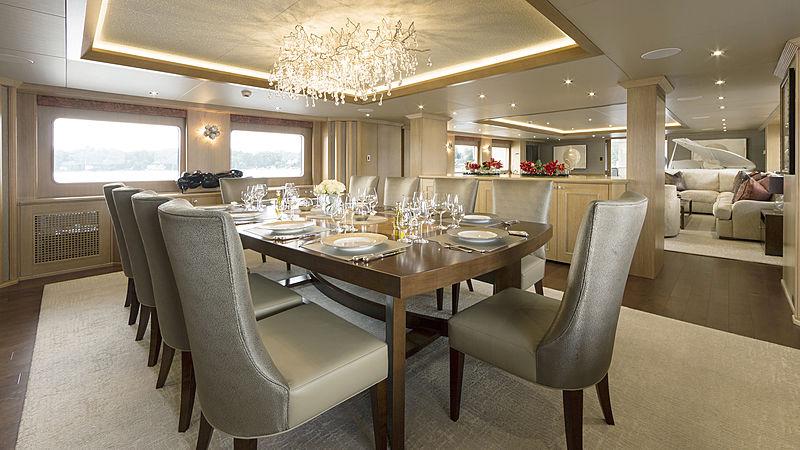 Minderella yacht dining table