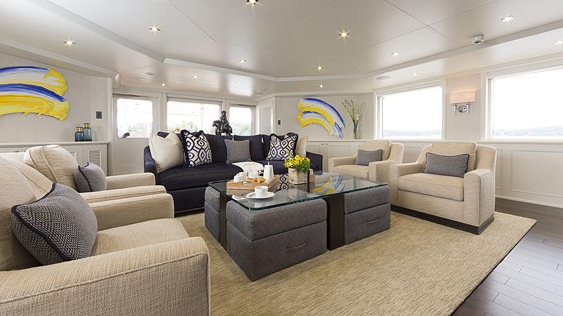 Minderella yacht saloon