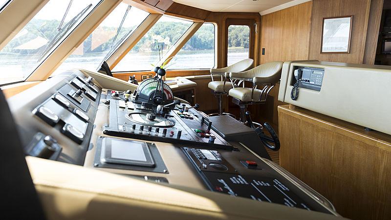 Minderella yacht wheelhouse