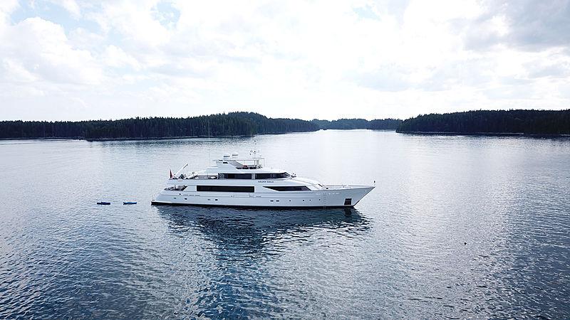 Golden Eagle yacht at anchor