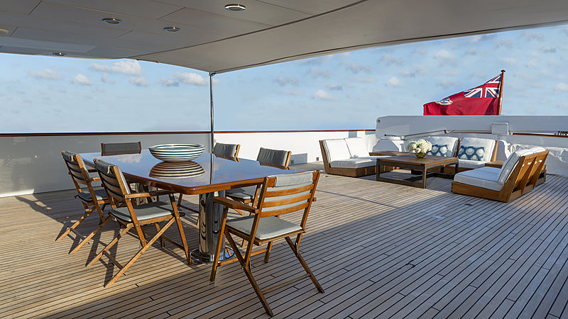 Golden Eagle yacht aft deck