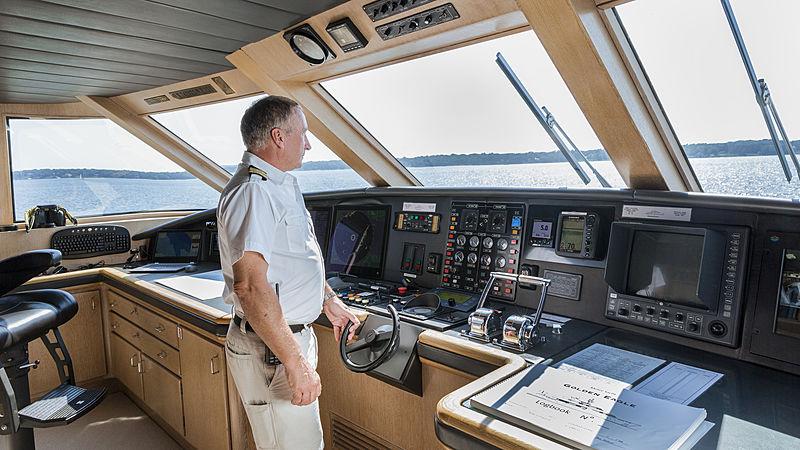 Golden Eagle yacht wheelhouse