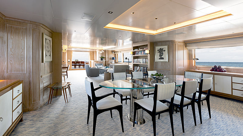 Golden Eagle yacht dining table