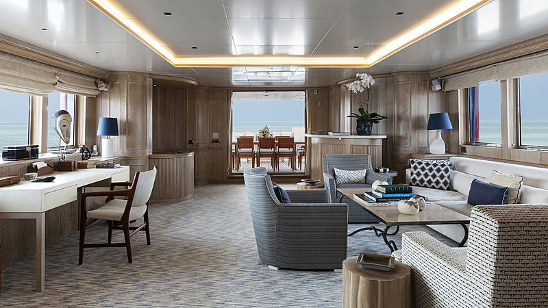 Golden Eagle yacht saloon
