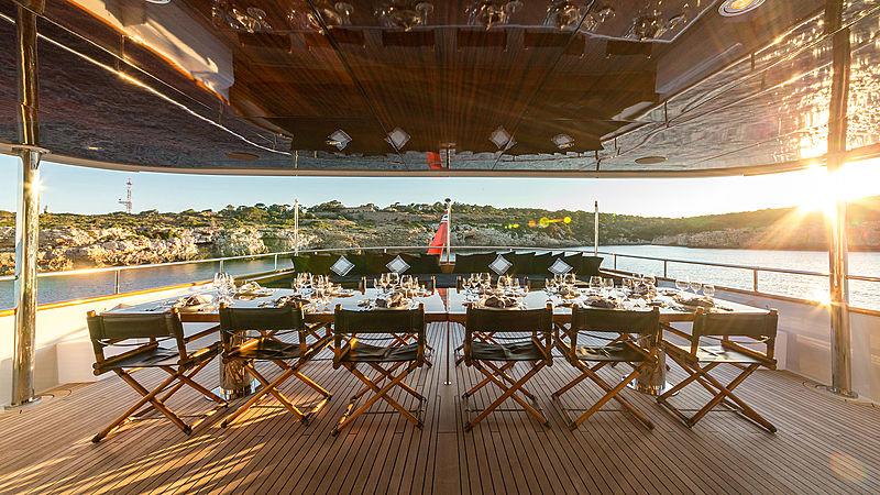 Tugatsu yacht aft deck