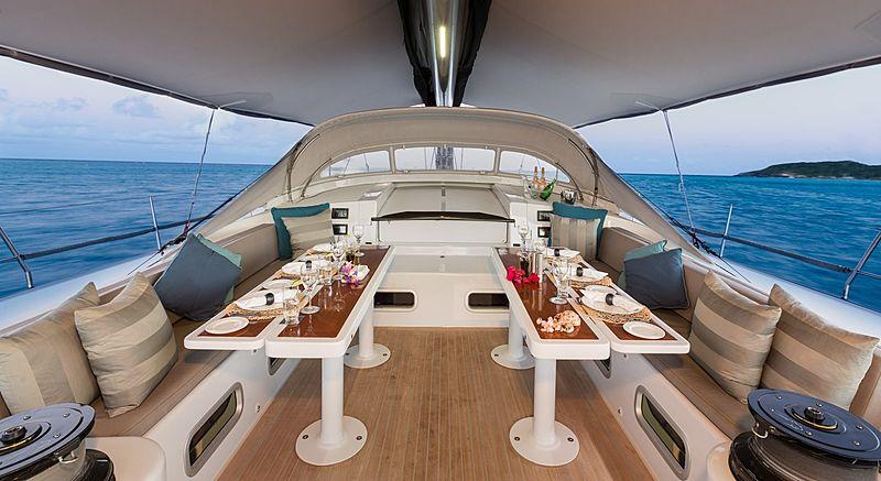 Leopard 3 yacht cockpit