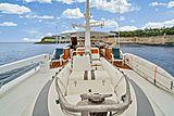 Nirvana yacht tender on sundeck