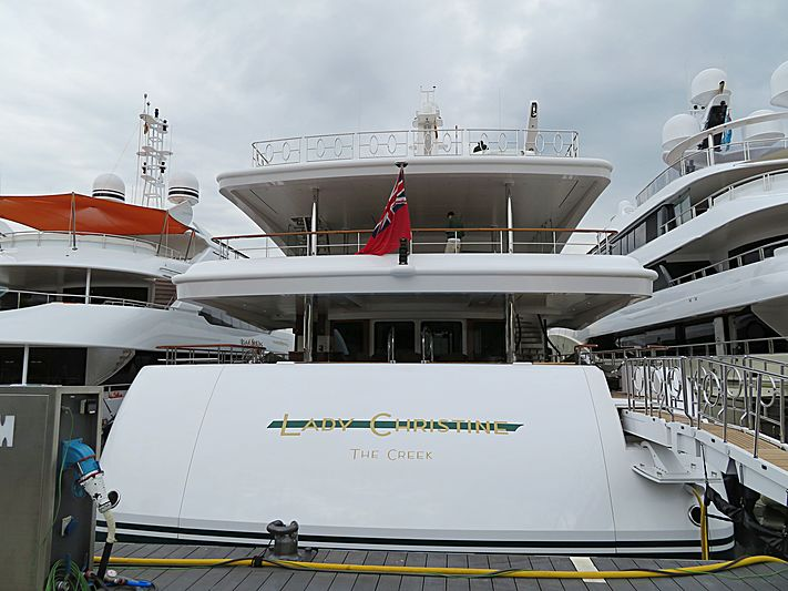 Lady Christine yacht in Barcelona