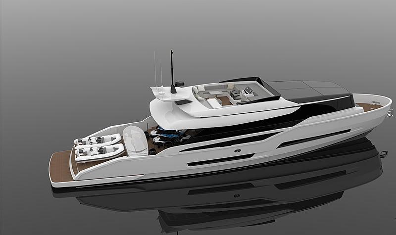 ISA Extra 86 yacht exterior design