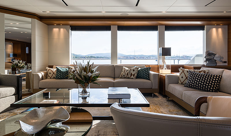 Brigadoon yacht saloon