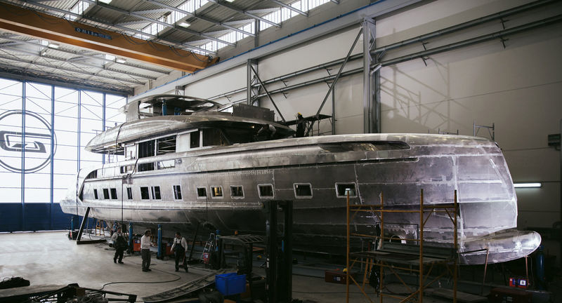Dynamiq GTT 115 in build in Viareggio
