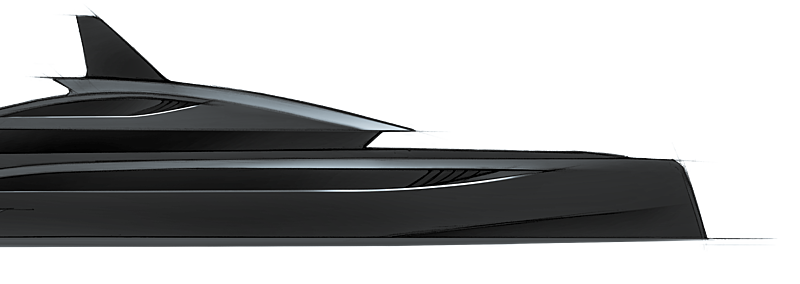 Black Shark yacht rendering