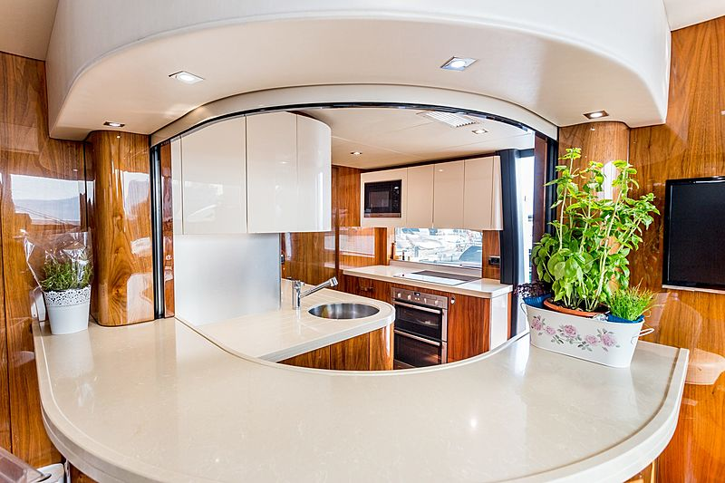 Stardust of Poole yacht galley