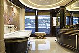 Kismet yacht owner's bathroom