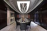 Kismet yacht dining room