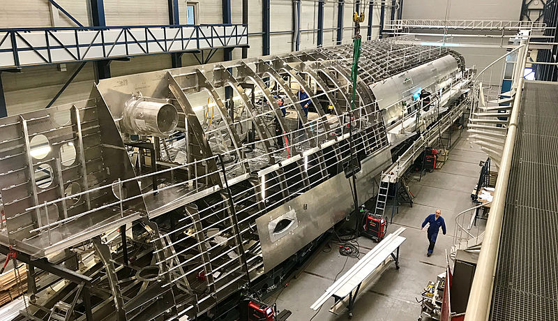 Royal Huisman Project Phi in build in Vollenhove