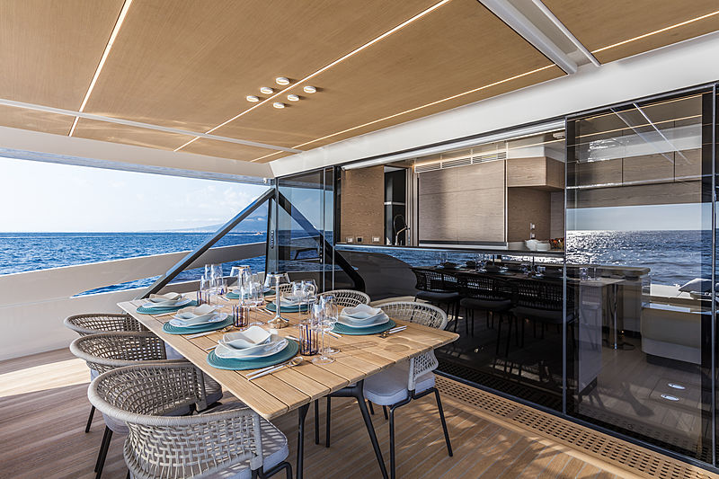 ISA Extra 76 One yacht aft deck
