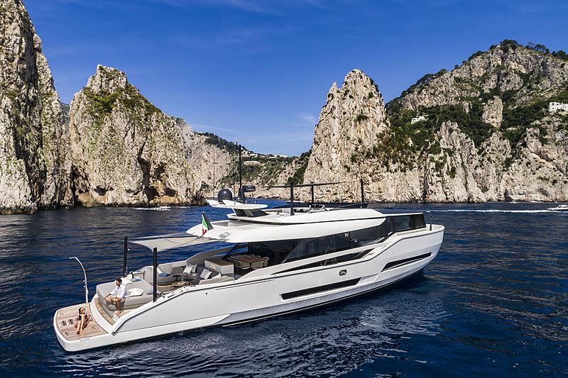 ISA Extra 76 One yacht anchored