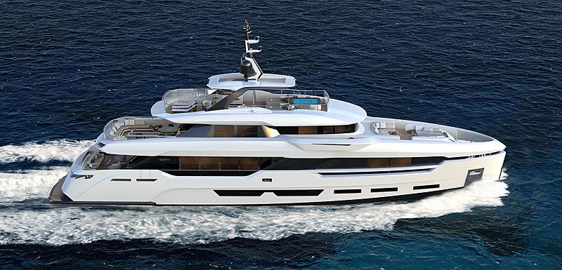 Cerri DOM 123 yacht exterior design